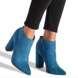 Shoedazzle Brooke Teal Bootie Size 10
